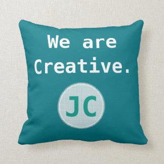Almofada Nós somos monograma criativo da inspiração da