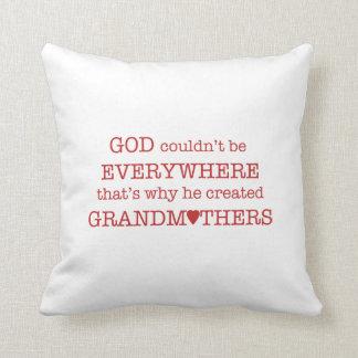 Almofada O deus criou Avó-Vermelho