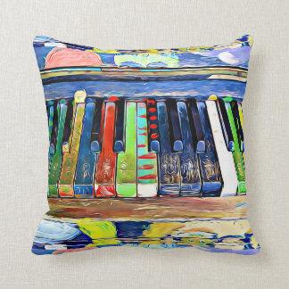 Almofada O piano colorida pintado fecha o travesseiro