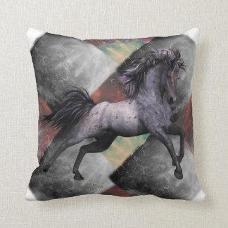 """Almofada O travesseiro decorativo Roan azul 16"""" do cavalo"""