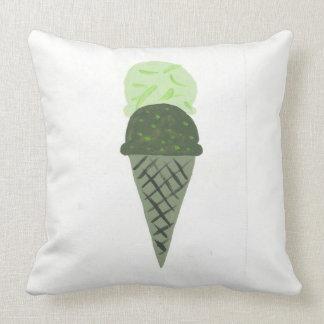 "Almofada O travesseiro verde bonito ""vida do cone do"