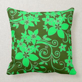 Almofada Ornamento floral verde abstrato