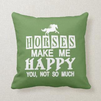 Almofada Os cavalos fazem-me feliz