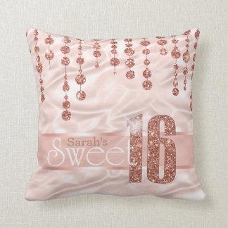 Almofada Ouro cor-de-rosa ID260 do doce dezesseis da jóia