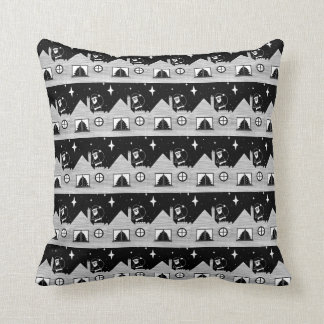 Almofada Papai noel bonito com o saco na arte preto e