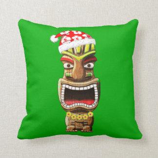 Almofada Papai noel havaiano Tiki do Natal