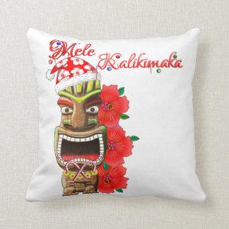 Almofada Papai noel Tiki de Mele Kalikimaka