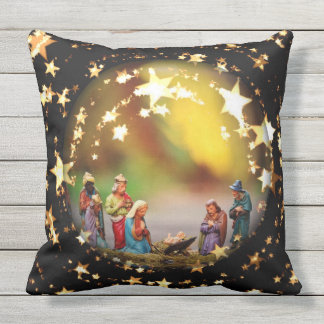 Almofada Para Ambientes Externos Estrelas de Jesus Joseph da Virgem Maria da ucha