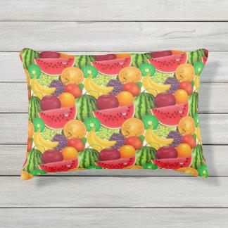 Almofada Para Ambientes Externos Fruta brilhante das bananas do quivi dos melões de