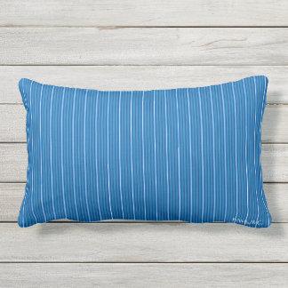 Almofada Para Ambientes Externos HAMbyWG - travesseiro lombar - listras do topázio