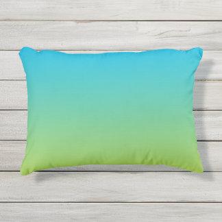 Almofada Para Ambientes Externos Travesseiro exterior azul e verde de Ombre