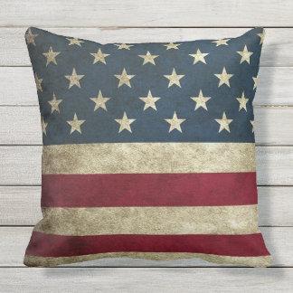 Almofada Para Ambientes Externos Travesseiro rústico de Outdor da bandeira
