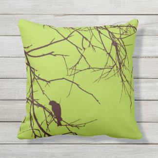 Almofada Pássaro do marrom do verde do coxim ou travesseiro