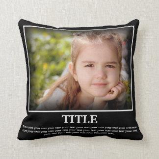 Almofada Personalize a foto & o texto (o estilo do poster)