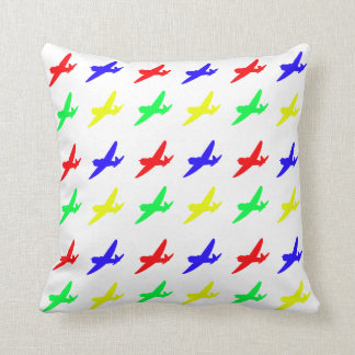 Almofada Plano retro das cores preliminares dos aviões