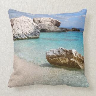 Almofada Praia de Cala Mariolu, travesseiro decorativo de