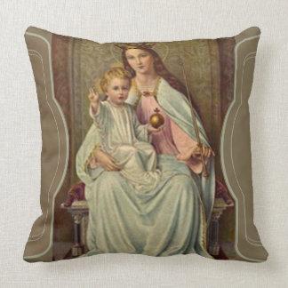 Almofada Rainha coroada do céu Jesus infantil que guardara