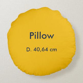 Almofada Redonda Amarelo redondo do algodão do travesseiro uni