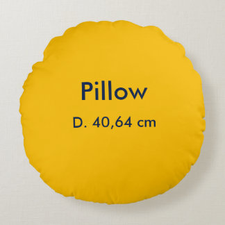 Almofada Redonda Amarelo redondo do poliéster do travesseiro uni