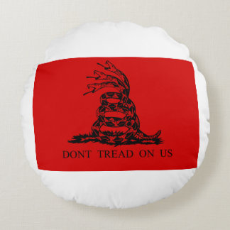 Almofada Redonda Bandeira de Gadsden do Hydra