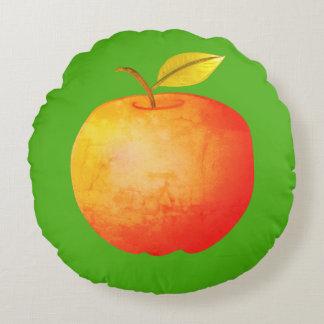 Almofada Redonda Brilhante artístico da fruta vibrante grande dos