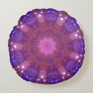Almofada Redonda Caleidoscópio estrelado