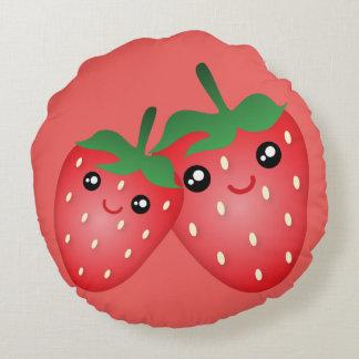 Almofada Redonda Eu te amo baga bonito muita fruta da morango de