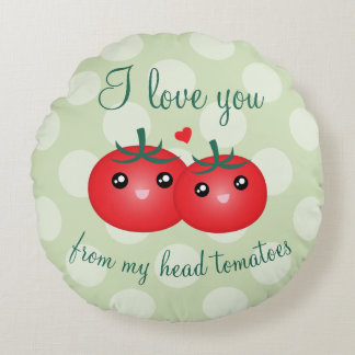 Almofada Redonda Eu te amo de minha chalaça engraçada da fruta dos