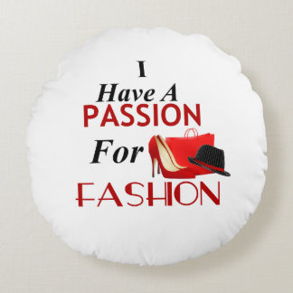 Almofada Redonda Eu tenho uma paixão para o travesseiro redondo da
