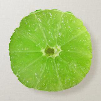 Almofada Redonda Fatia suculenta do limão da fruta