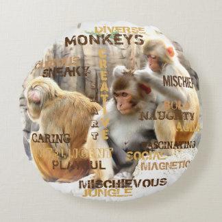 Almofada Redonda Macacos