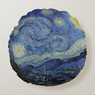 Almofada Redonda Noite estrelado Vincent van Gogh