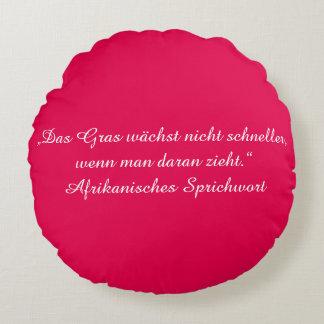 Almofada Redonda Texto alemão - humor