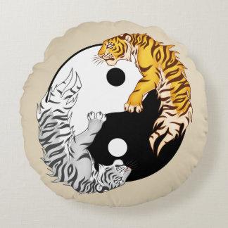 """Almofada Redonda Travesseiro decorativo redondo 16"""" dos tigres de"""