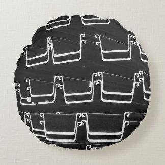 Almofada Redonda travesseiro decorativo redondo da canaleta em U