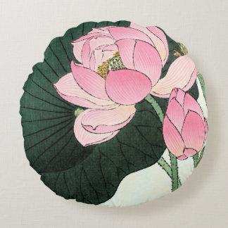 Almofada Redonda Travesseiro decorativo redondo da FLOR de LOTUS do
