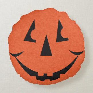 Almofada Redonda Travesseiro decorativo redondo da Jack-O-Lanterna