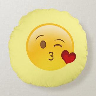 Almofada Redonda Travesseiro decorativo redondo de sopro de Emoji