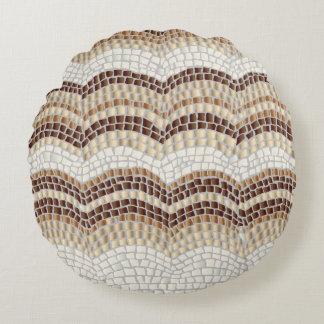 Almofada Redonda Travesseiro decorativo redondo do algodão bege do