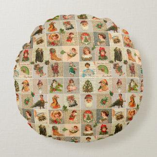 Almofada Redonda Travesseiro decorativo redondo do algodão do natal