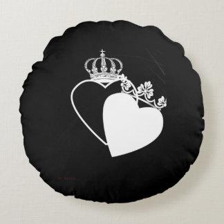 Almofada Redonda Travesseiro dos corações do rei e da rainha