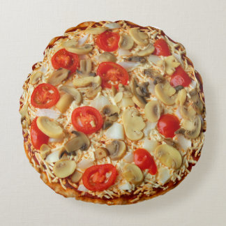 Almofada Redonda travesseiro redondo da pizza vegetal