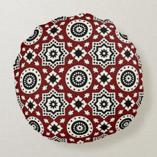 Almofada Redonda Travesseiro redondo do teste padrão de Ajrak