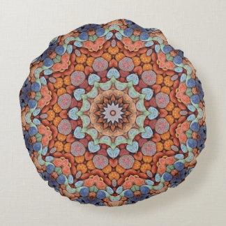 Almofada Redonda Travesseiro redondo do teste padrão rochoso do