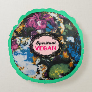 Almofada Redonda Travesseiro redondo do Vegan espiritual