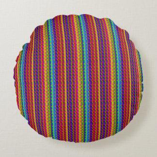 Almofada Redonda Travesseiro redondo psicadélico colorido ultra