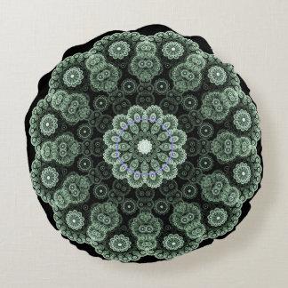 Almofada Redonda Travesseiro verde da mandala
