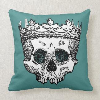 Almofada Rei Coroação de esqueleto do revestimento