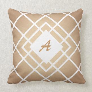 Almofada Roteiro do monograma, rhomb, travesseiro do