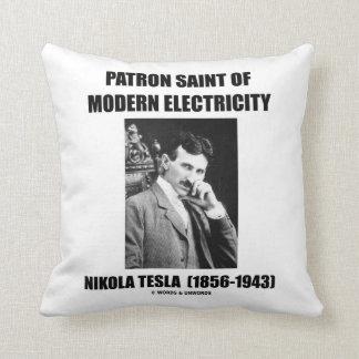 Almofada Santo padroeiro da eletricidade moderna (Nikola